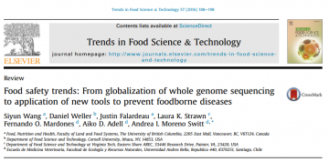 (Oct 2016) Check out our new paper on Food Safety Trends!